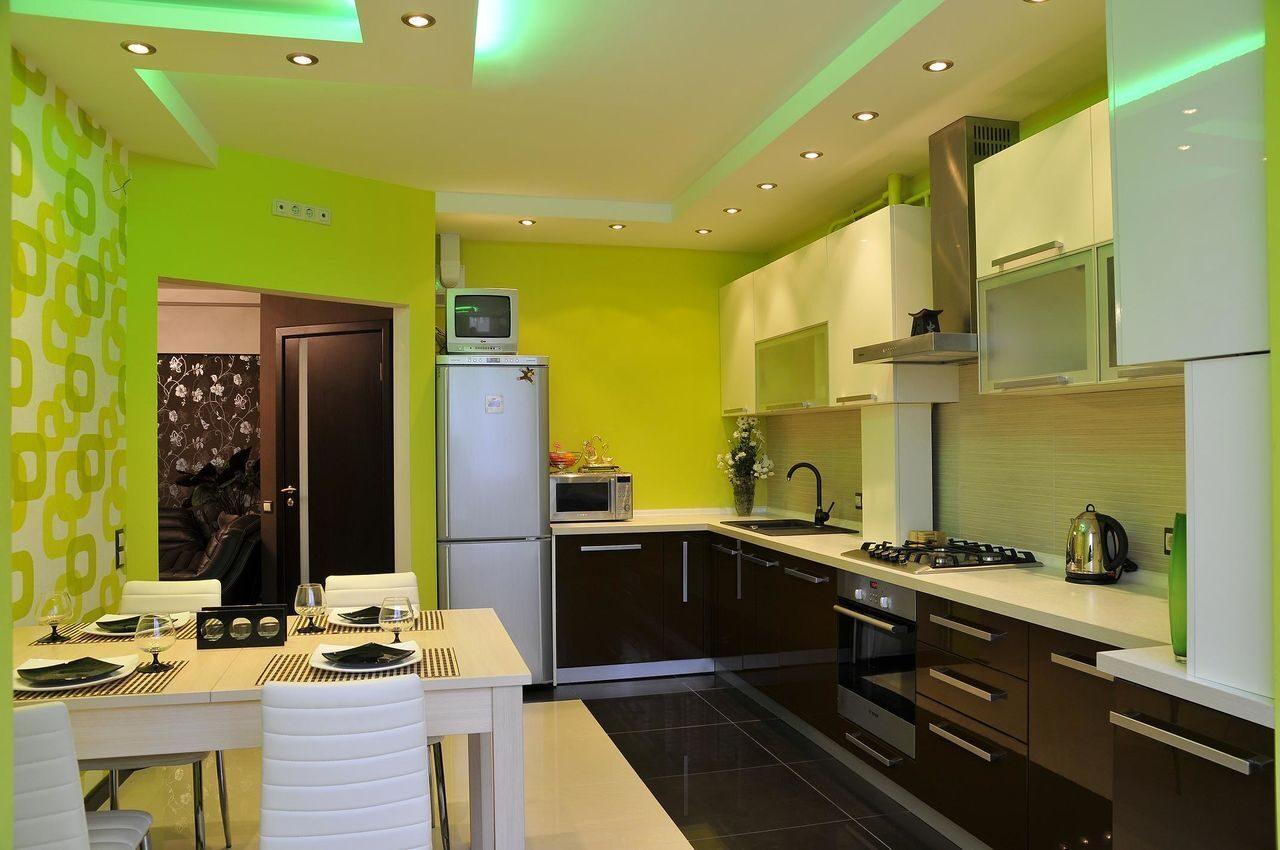 Кухня дизайн потолка из гипсокартона